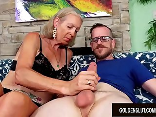 Tall Granny Super Sexy Has Her Tight Asshole Reamed by a Younger Guy