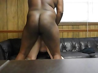 fucking her fat juicy ass on couch