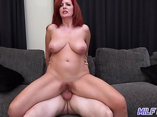 MILFTRIP Big Tit Redhead MILF Creams On Big Dick Fountain Of Youth