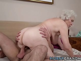 Fat assed granny gets fucked