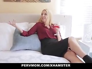 Pervmom Stepmom Seduces Horny Son  watch FULL HD video on adultx.club
