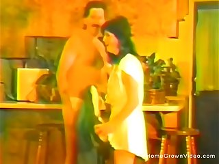 Vintage homemade fuck flick with petite wife