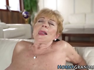 Busty granny fingered and fucked