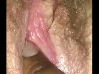 Fingering wife&rsquo_s hairy pussy