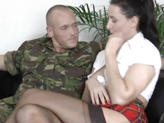 Cuffed mother i'd like to fuck brit analfucked during the time that ballgagged