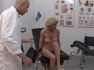 Mature granny blonde Marie  fucking with doctor