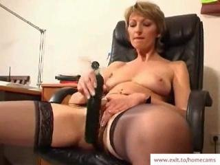 Mature Stella in her homeMade masturbation movie
