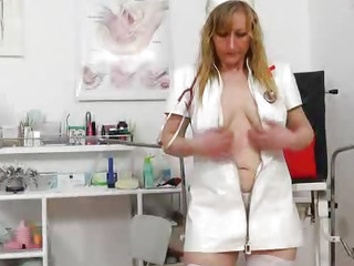 Stunning head nurse gets perverse again
