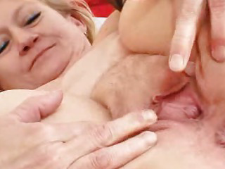Kinky old grannie puss spreading and masturbation