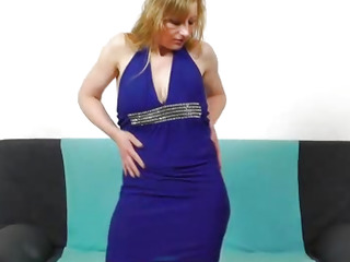 Susan Blond plays with dildo