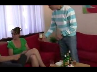 Cocksucking mature takes it in the ass