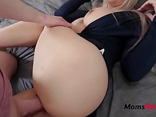 Hot Busty Mother Gets Tricked By Son