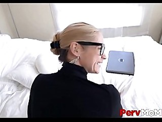 Big Tits MILF Stepmom Orgasms On Loser Stepsons Big Dick And Leaves Him With Blue Balls POV