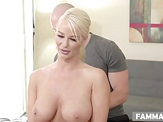 Busty stepmom choose her stepson instead of her husband