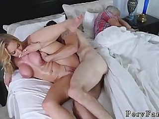Ebony milf orgy  mom and friend's son in hotel room