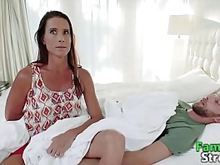 MOM's Taboo Strocking Son's Cock