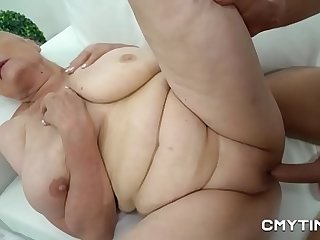 Busty blonde granny gets screwed